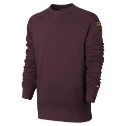 Мужская толстовка FC Barcelona French Terry Authentic Nike. Цвет: пурпурный
