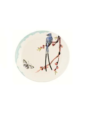 Тарелка большая Флоранс Elff Ceramics. Цвет: белый, голубой, сиреневый