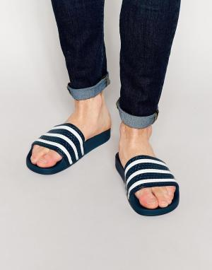 Adidas Originals Шлепанцы Adilette 288022. Цвет: синий