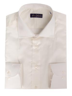 Рубашка Sarto Reale. Цвет: молочный