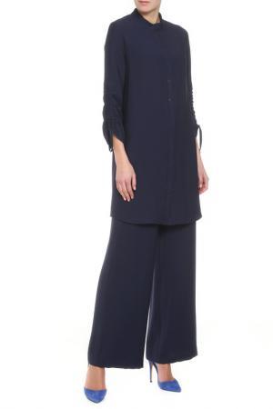 Костюм: туника, брюки Adzhedo. Цвет: темно-синий
