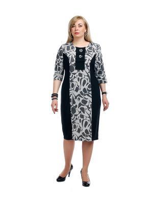 Платье OLSI. Цвет: серый, черный