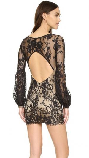 Мини-платье Britney Katie May. Цвет: черный/телесный