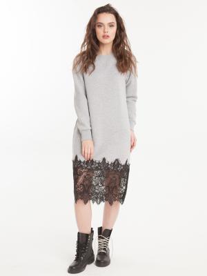 Платье утепленное с кружевом Perfection FreeSpirit