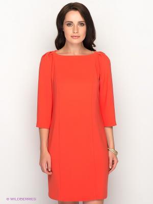 Платье AKIMBO. Цвет: коралловый