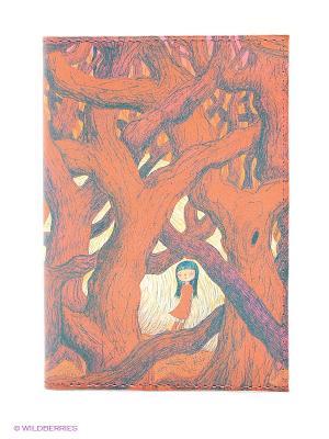 Обложка для паспорта В красном кустарнике Mitya Veselkov. Цвет: рыжий