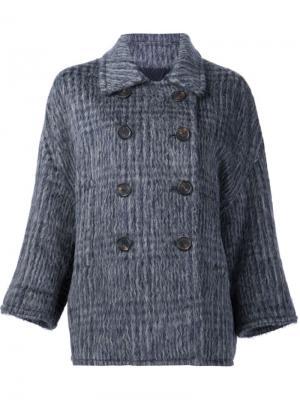 Двубортное пальто Brunello Cucinelli. Цвет: серый