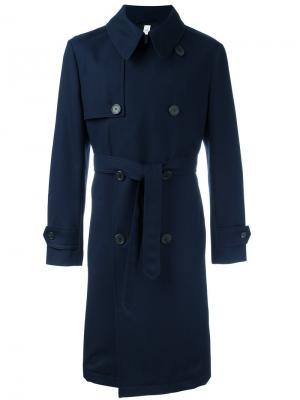 Пальто-тренч Ami Alexandre Mattiussi. Цвет: синий