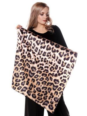 Платок шелк леопард SEANNA. Цвет: коричневый