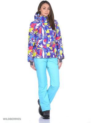 Куртка High Experience. Цвет: темно-фиолетовый, салатовый, розовый