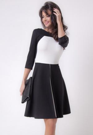 Платье Olga Skazkina. Цвет: черно-белый