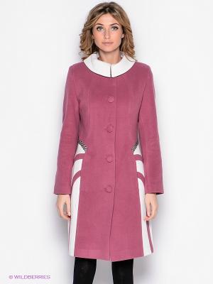 Пальто Malinardi. Цвет: лиловый, белый