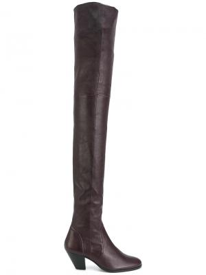 Ботфорты на каблуке Stouls. Цвет: розовый и фиолетовый