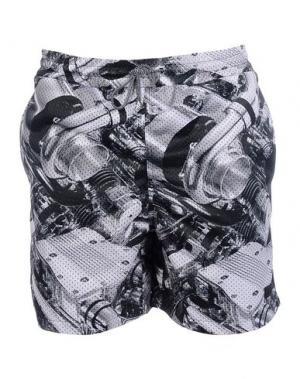 Пляжные брюки и шорты IUTER. Цвет: серый