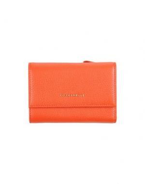 Бумажник COCCINELLE. Цвет: коралловый