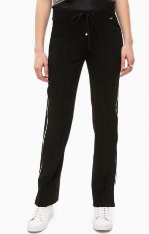 Зауженные черные брюки Cinque. Цвет: черный
