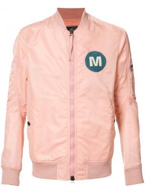 Куртка-бомбер M Maharishi. Цвет: розовый и фиолетовый