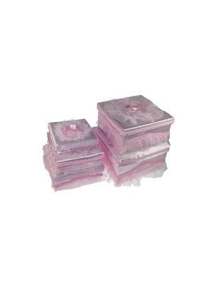 Комплект коробок из 5-и шт. Русские подарки. Цвет: розовый, белый