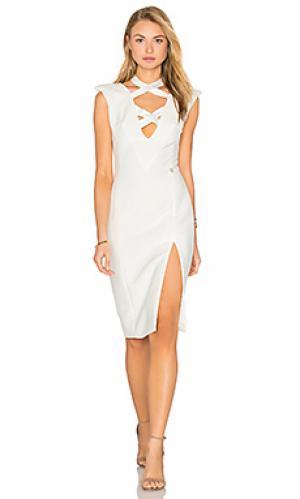 Платье миди shanghai Bronx and Banco. Цвет: белый