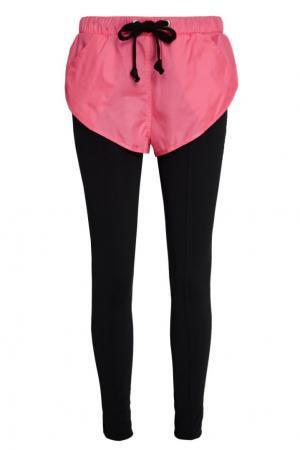Черные брюки с шортами Natasha Zinko. Цвет: none