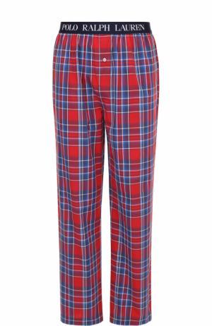 Хлопковые домашние брюки свободного кроя Polo Ralph Lauren. Цвет: красный