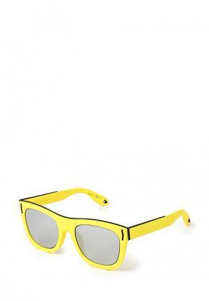Очки солнцезащитные Givenchy. Цвет: желтый