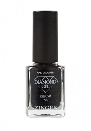Лак для ногтей Zinger. Цвет: черный