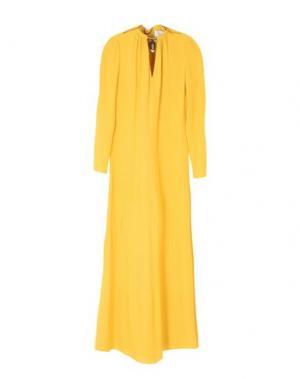 Длинное платье VALENTINO. Цвет: желтый