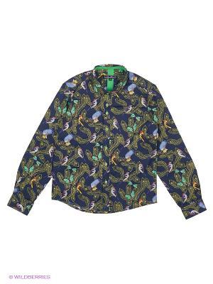 Рубашка Nota Bene. Цвет: темно-синий