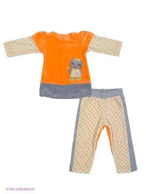 Комплект FIM. Цвет: оранжевый, салатовый, серый меланж