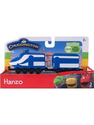 Набор Паровозик с вагончиком Ханзо Chuggington. Цвет: синий