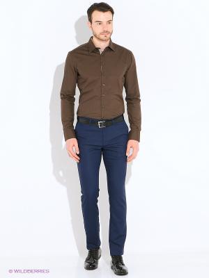 Рубашка Imperator. Цвет: коричневый