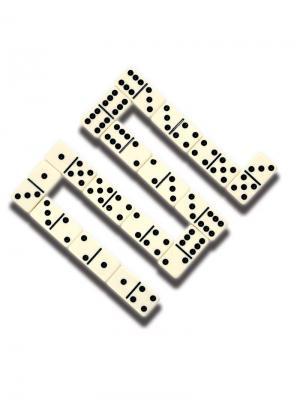 Игра настольная Мини домино Classic. Цвет: черный, белый