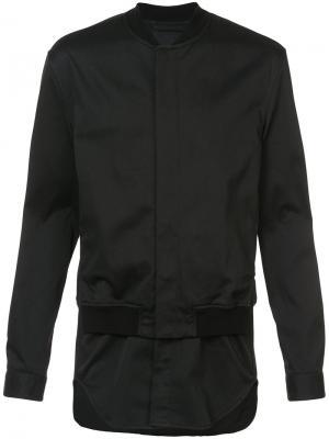 Куртка-бомбер с рубашечной вставкой 3.1 Phillip Lim. Цвет: чёрный