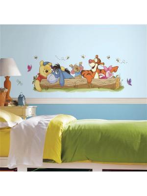 Наклейки для декора Винни Пух и друзья 1 ROOMMATES. Цвет: белый, черный, синий, зеленый, серый, голубой, красный, оранжевый, желтый