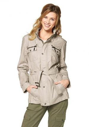 Удлиненная куртка In Linea Firenze. Цвет: песочный
