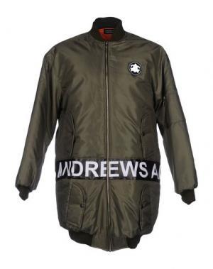 Куртка ANDREA CREWS. Цвет: зеленый-милитари