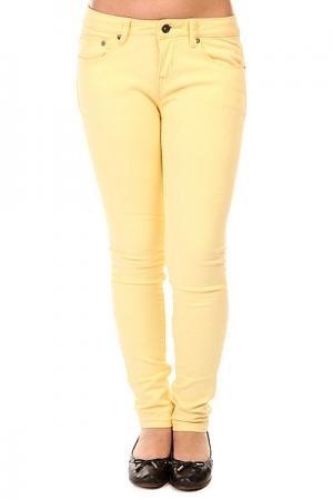 Джинсы прямые детские  Desert Pant Golden Haze Roxy. Цвет: желтый