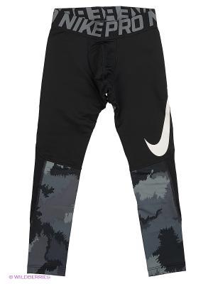 Тайтсы B NP HPRWM TGHT AOP Nike. Цвет: черный
