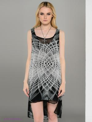 Платье Religion. Цвет: черный, темно-серый, молочный