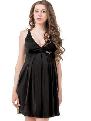 Сорочка Shiny Nid d'Ange. Цвет: черный