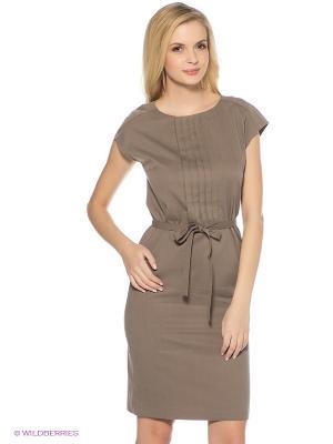 Платье Finn Flare. Цвет: серо-коричневый