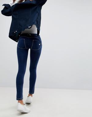 Freddy Рваные джинсы скинни с классической талией и моделирующим эффектом Fre. Цвет: синий