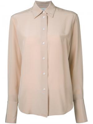 Классическая рубашка Studio Nicholson. Цвет: телесный