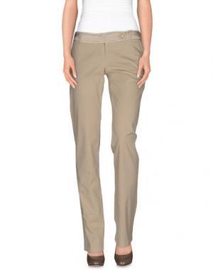 Повседневные брюки MISS MONEY. Цвет: песочный