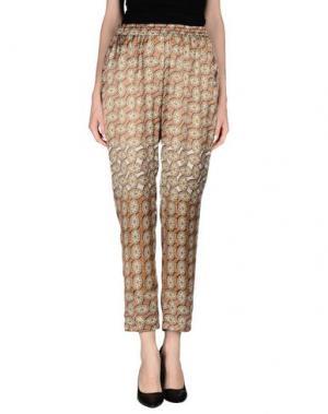 Повседневные брюки FAIRLY. Цвет: ржаво-коричневый