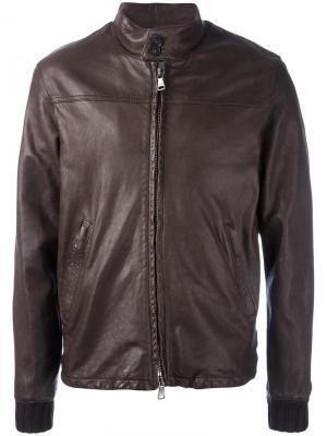 Куртка на молнии Orciani. Цвет: коричневый