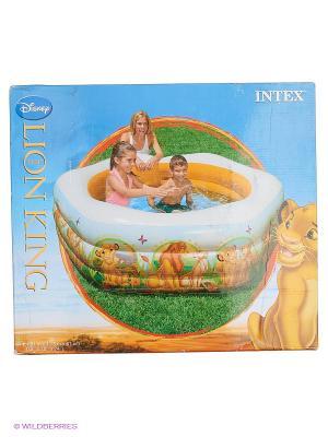 Бассейн Король Лев Intex. Цвет: белый, зеленый, оранжевый