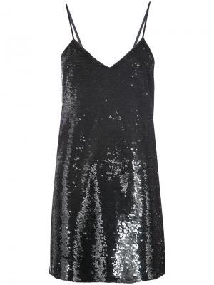 Платье с пайетками Ashish. Цвет: чёрный
