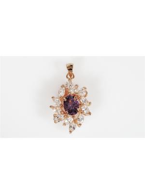 Кулон Аметист Lotus Jewelry. Цвет: золотистый, фиолетовый